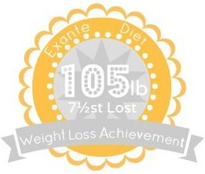 EXANTE Weight Loss Achievement Badges!-105lb.jpg