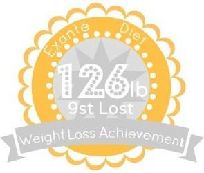 EXANTE Weight Loss Achievement Badges!-126lb.jpg