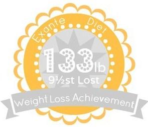EXANTE Weight Loss Achievement Badges!-133lb.jpg