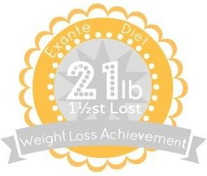 EXANTE Weight Loss Achievement Badges!-21lbs.jpg