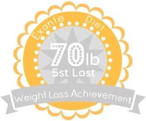 EXANTE Weight Loss Achievement Badges!-70lb.jpg
