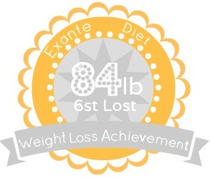 EXANTE Weight Loss Achievement Badges!-84lb.jpg