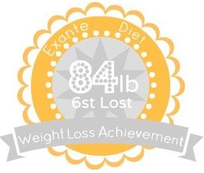 EXANTE Weight Loss Achievement Badges!-84lb.jpg