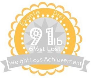 EXANTE Weight Loss Achievement Badges!-91lb.jpg