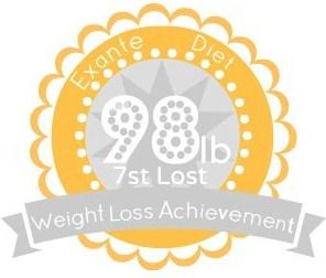 EXANTE Weight Loss Achievement Badges!-98lb.jpg