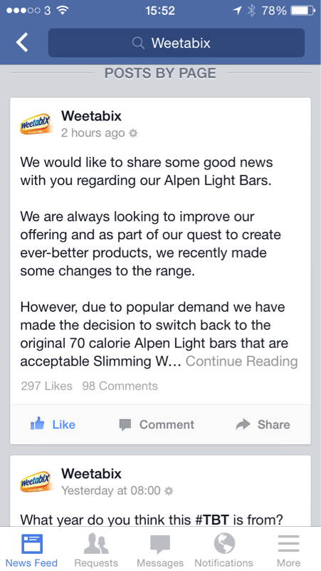 Great news- Alpen Light Bars changing back to 70cal recipe-image-853567717.jpg