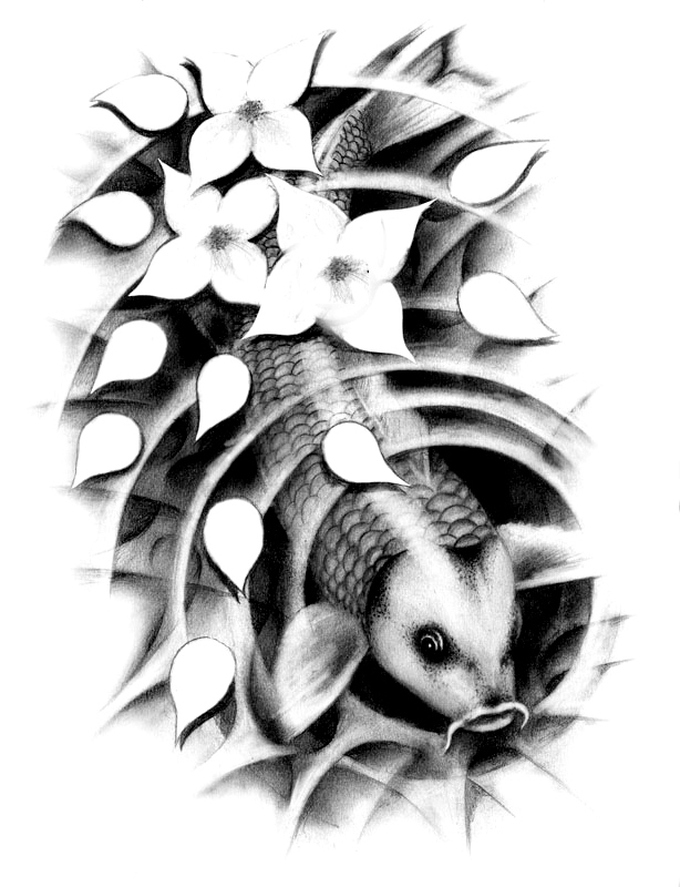 black and white koi tattoos best koi tattoos