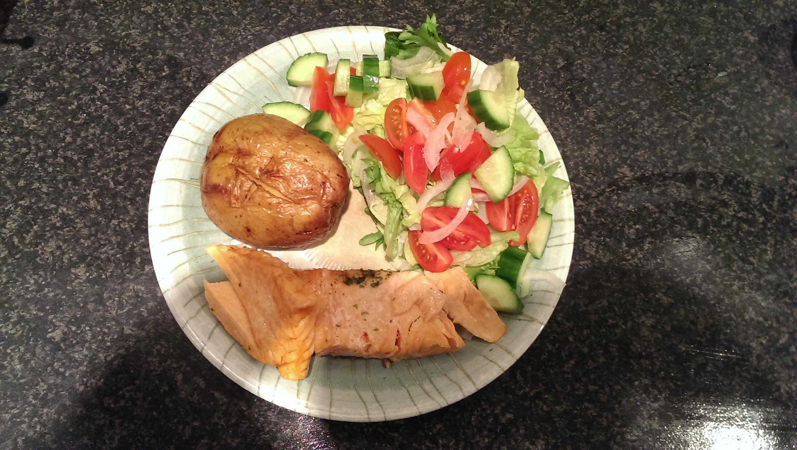 This is it ~ Stevie's food diary.-salmon-tea.jpg