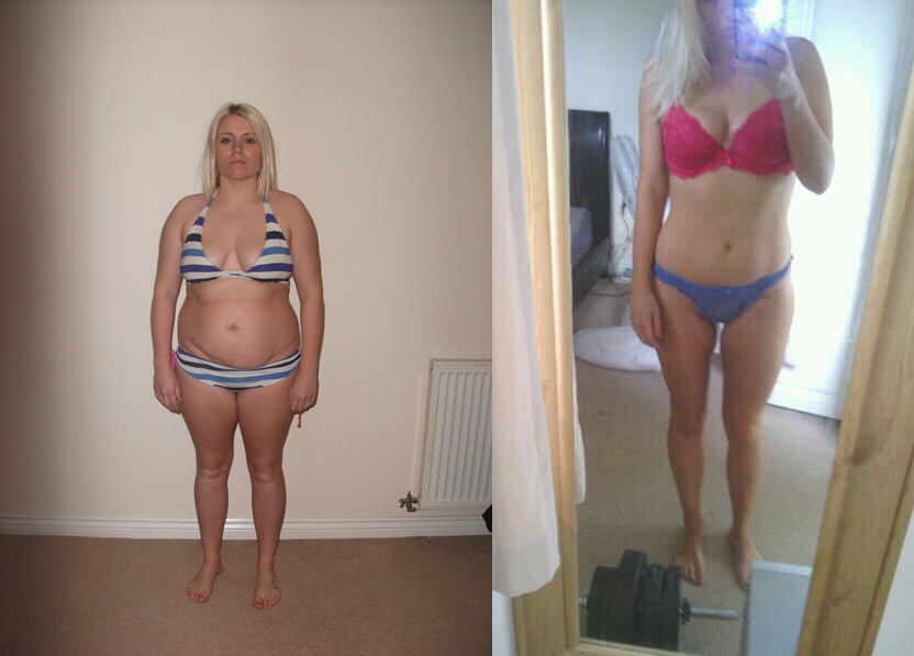 Nearly 10 weeks in - 3 and half stone gone! Size 10 at last YIPPEEEEE! B4 & NOW Photo-skiny.jpg