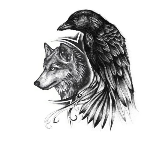 Amazing-Wolf-Head-And-Raven-Tattoo-Design.jpg